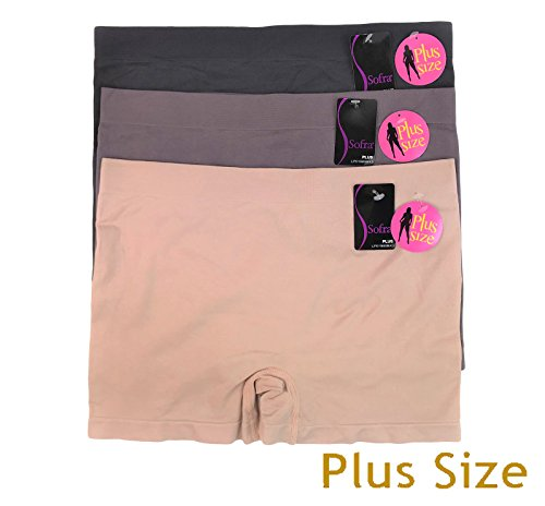 Panties Boys In (3 Pack Stretchy Seamless Boyshorts Panties for Women in Various Sassy Styles (BeautyPlus1-3pk))