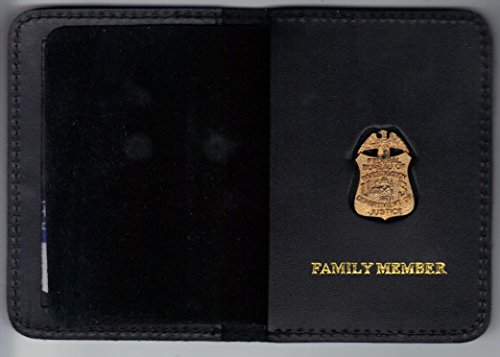 FBI Family Member Mini Badge/ID Card Wallet (antique mini pin included)