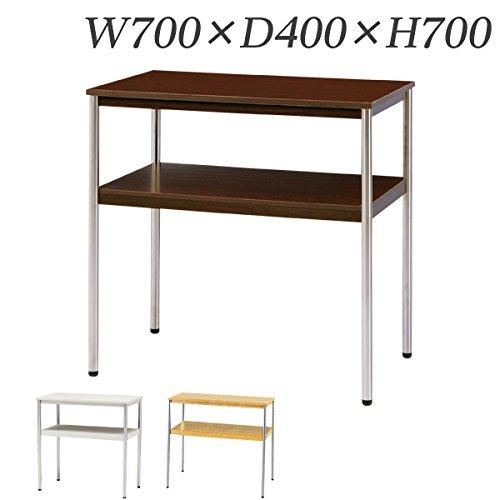 生興 電話台 コーナーテーブル W700×D400×H700 TT-S70N ダークブラウン B015XOKTJEダークブラウン
