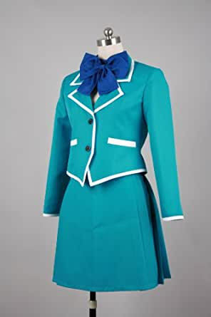 CosplayerWorld Cosplay Costume Size S Kaze no Stigma Girl'uniformJapanese Anime Manga Convention Dress Suit Cosplay Tailor Made