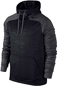 Nike Men's Hyperspeed Hoodie Pullover Size Large Black/gray Therma-fit 669981