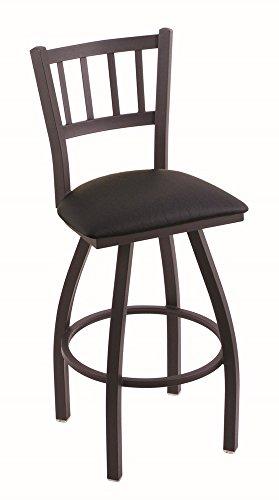 (Holland Bar Stool Company 810 Contessa 25-Inch Counter Stool with Black Wrinkle Finish, Black Vinyl Seat and 360 Swivel)