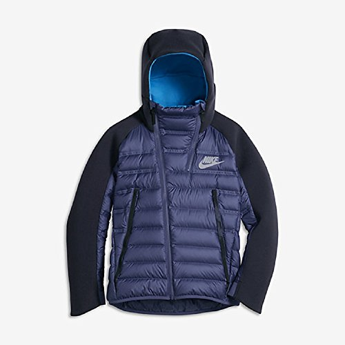 Nike Sportswear Tech Fleece Aeroloft Youth Down Jacket (Boys X-Large) Dark Purple/Obsidian/Photo Blue by NIKE