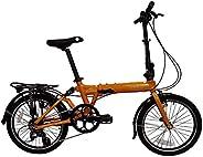 "SOLOROCK 20"" 8 Speed Aluminum Rockies Folding Bike - Rear Suspension V B"