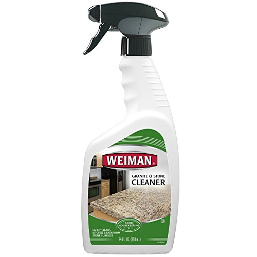 Laminate Countertop Cleaner - Weiman Granite Cleaner and Polish - 24 Ounce - For Granite Marble Soapstone Quartz Quartzite Slate Limestone Corian Laminate Tile Countertop and More