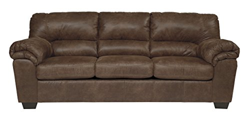 Leather Signature Set Sofa - Ashley Furniture Signature Design - Bladen Contemporary Plush Upholstered Sofa - Coffee Brown