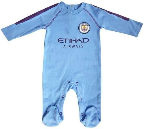 Manchester City F.C Sleepsuit 0//3 mths PL Official Merchandise