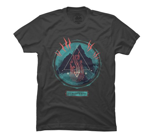 Mountain of Madness Men's X-Large Charcoal Graphic T Shirt - Design By Humans