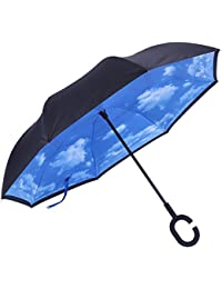 Marino Upside Down Umbrella - Reverse Folding Inside Out Umbrella - Unbreakable