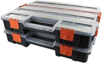2-Pack HDX 15-Compartment Interlocking Small Parts Organizer