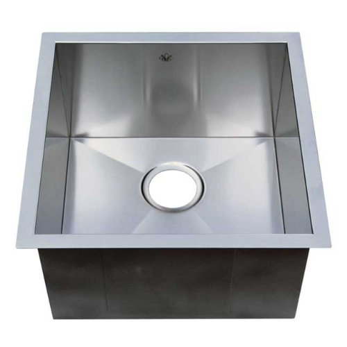 Artisan CPUZ-1919-D10 19-Inch by 19-Inch Undermount Single Basin 16-Gauge Stainless Steel Bar Sink Chef Pro - Artisan Undermount Sink
