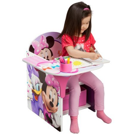 Disney Chair with Desk, Minnie With a Cup Holder