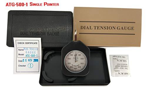 Spring Tension Gauge - VTSYIQI ATG-500-1 Dial Analog Tension Gauge meter tester Tensionmeter Gram Force Meter Single Pointer 500G Pressure Pull Tester Gage Analog tension meter tension tester Single needle Gram gauge