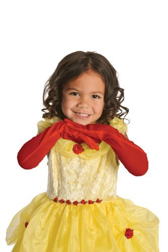 Little Adventures Elbow Length Child Princess Gloves (Red) -