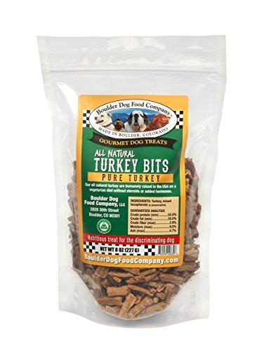 Boulder Dog Food Company All Natural Bits Dog Treats, 8 Ounces (Turkey Bits) (Best Dog Food Company)
