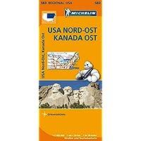 Michelin USA Nord-Ost, Kanada Ost: Straßen- und Tourismuskarte 1:2.400.000 (MICHELIN Regionalkarten)