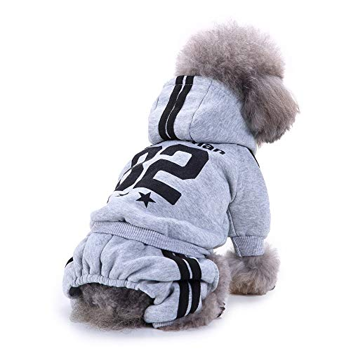 (Sunnyys Fashion Pet Dog Sweatshirts Warm Clothes Puppy Doggy Apparel Clothing Gray)