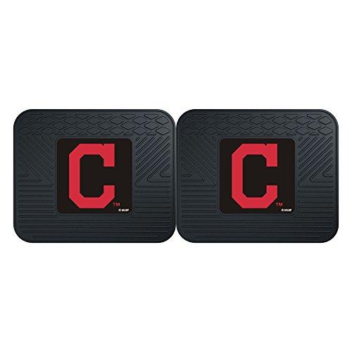 CC Sports Decor MLB Cleveland Indians Heavy Duty Rear Car Floor Mats, 2-Piece Set