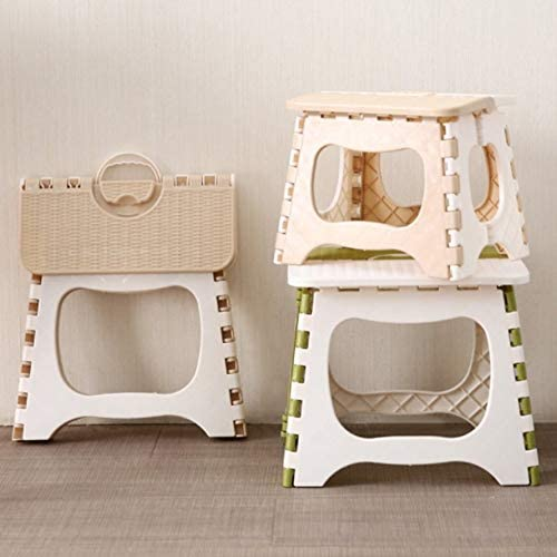 HoganeyVan Folding Step Stool Foldable Plastic Portable Small Stool Chair Bench For Children Kids Adults Outdoors Bathroom Travel