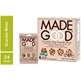 MadeGood Chocolate Chip Granola Minis, 6 Boxes (24 ct.85 oz); Delicious and Wholesome Bite-Sized Treats Made with Organic and Allergy Friendly Ingredients Perfect for School Snacks and Lunches