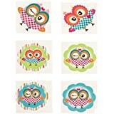 Pack of 12 - Owl Temporary Tattoos - Great Boys Girls Party Loot Bag Fillers