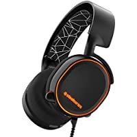 SteelSeries Arctis 5 RGB Illuminated Gaming Headset with DTS Headphone:X 7.1 Surround for PC, PlayStation 4, Xbox One, VR, Android and iOS - Black (Certified Refurbished)