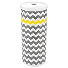 InterDesign Una Chevron Free Standing Toilet Paper Holder for Bathroom - Gray/Yellow