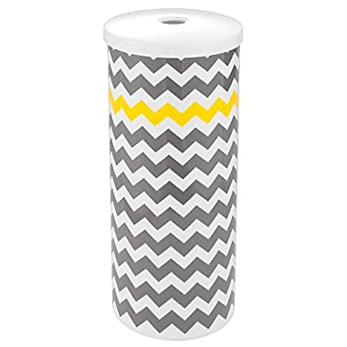 InterDesign Una Chevron Free Standing Toilet Paper Holder for Bathroom - Gray/Yellow