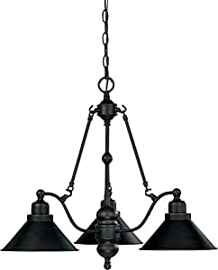 Nuvo 60/1701 3 Light Mission Dust Bronze Chandelier