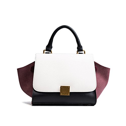 PU Simple Sac Burgundy à Main Bandoulière Sac à Sac Ailes Couleur Womens Hit Bandoulière DHFUD gq5wSTq