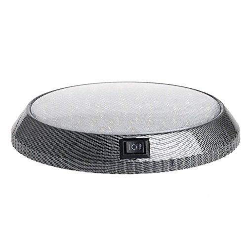 Marketworldcup - New DC 12V 46 LED Car Vehicle Interior Indoor Roof Ceiling Dome Light Lamp White (Black & Amp ; Decker Inverter)