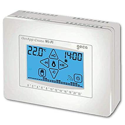 GECA - Termostato programable semanal Gecapp, color blanco ...