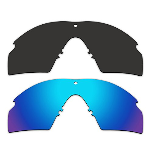 (ACOMPATIBLE 2 Pair Replacement Polarized Lenses for Oakley Industrial M Frame 2.0 Sunglasses OO9213 Pack P4 )