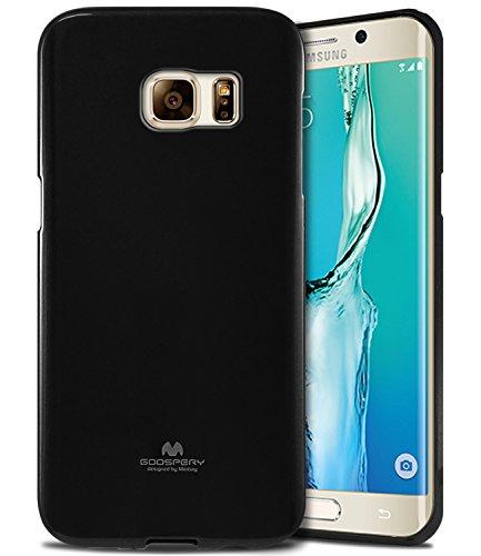 Goospery Pearl Jelly for Samsung Galaxy S6 Edge Plus Case (2015) Slim Thin Rubber Case (Black) - Black Case Jelly