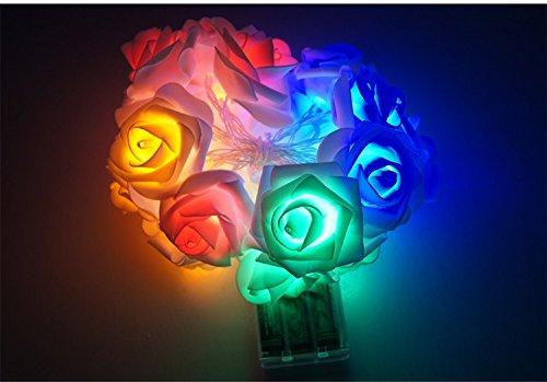 HLS 20LED RYGB batería de flores de color rosa hada luces de hadas 2.0 m: Amazon.es: Iluminación