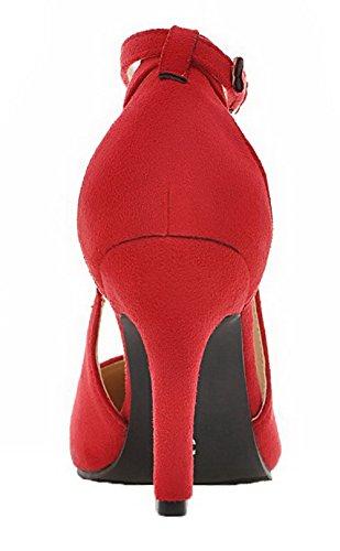 Unie Chaussures Femme L Agoolar Pointu Couleur Boucle FnSwq88HZ