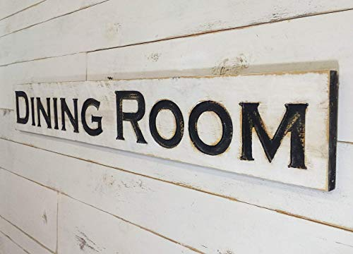 """Dining Room Very Large 60""""x8"""" Sign Carved - Wood Rough Sawn Board"""