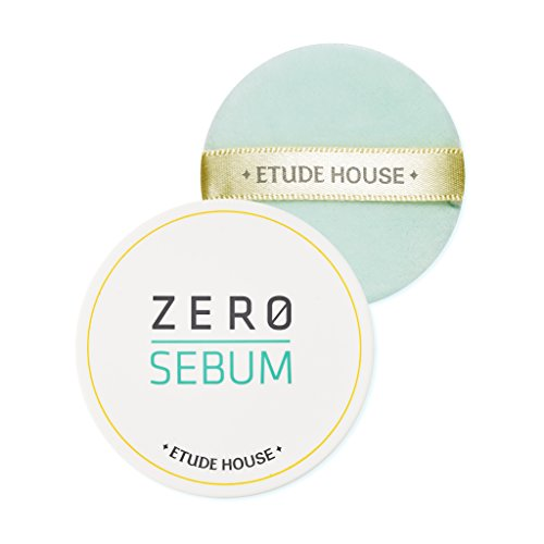 ETUDE HOUSE Zero Sebum Drying Powder - Oil Control No Sebum Powder with 80% Mineral, Makes Skin Downy (Best Makeup Setting Powder For Combination Skin)
