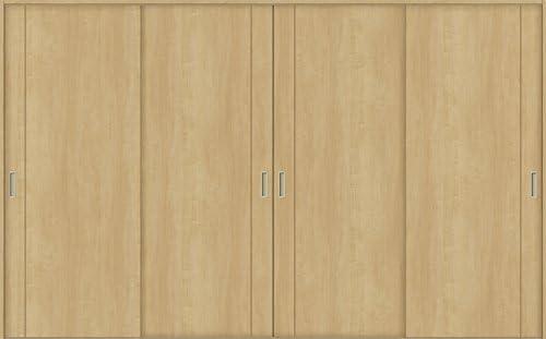 ラシッサS 室内引戸 Vレール方式 引違い4枚建て ASHF-LAC 鍵なし 3220 W:3,253mm × H:2,023mm ノンケーシング/ケーシング LIXIL リクシル TOSTEM 本体/枠色:クリエダーク(DD) 枠種類:180mm幅(ノンケーシング枠) 引手:引手(シャインニッケル) 敷居:埋込敷居(A枠) 機能:ブレーキ LIXIL リクシル TOSTEM トステム