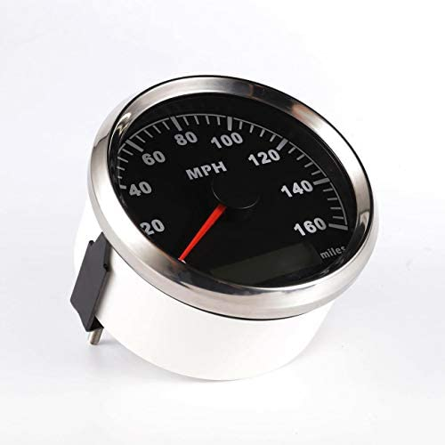 Partol 85mm Digital GPS Speedometer Gauge Waterproof Universal Odometer 0-160MPH for ATV UTV Car Truck Motorcycle Marine Boat