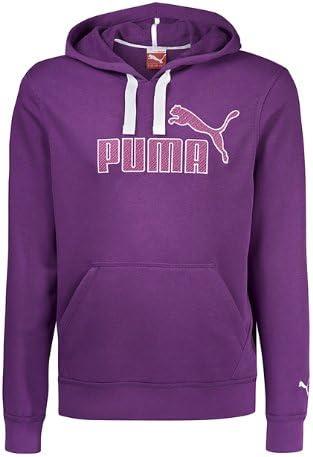 PUMA Pull à Capuche Logo Sweat zippé à Capuche, Organic