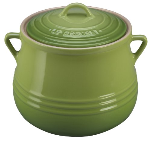 Le Creuset Heritage Stoneware Covered Bean Pot, 4-1/2-Quart, Palm