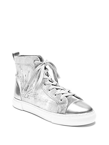 G Velvet Top GUESS Womens Force High Sneakers Beaded Grey 5SU48q
