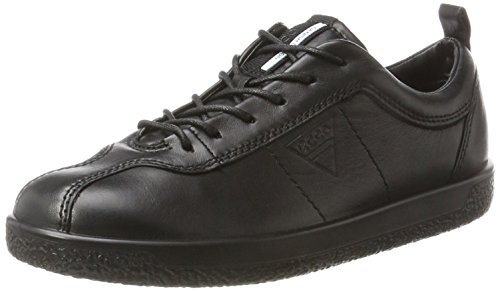 ECCO Women's Soft 1 Fashion Sneaker, Black Smooth, 38 EU / 7-7.5 US