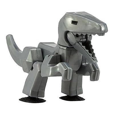 StikBot Dino -Velociraptor - Grey: Toys & Games