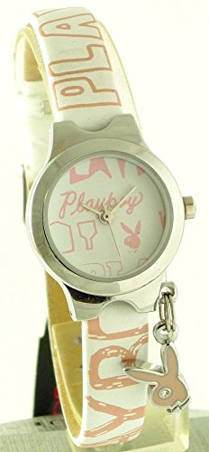 Playboy Ladies Quartz Analog Watch with Charm - PB0100 (Watch Playboy Ladies)