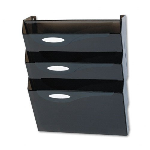 Rubbermaid : Classic Hot File Wall File Systems, Letter, Four Pockets, Smoke -:- Sold as 2 Packs of - 4 - / - Total of 8 Each -