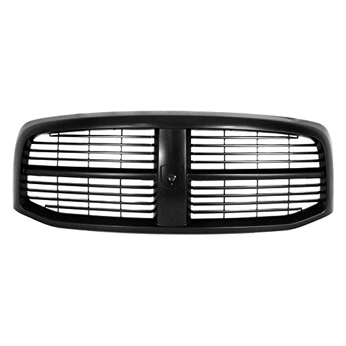 New Front Grille For 2006-2008 Dodge Ram 1500, 2500, 3500 Pickup Black, Customer Paints To Match CH1200280 5JY121SPAF