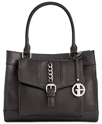 Giani Bernini Pebble Leather Small Satchel (Black) (Giani Bernini Pebble Leather Zipper Flap Crossbody)