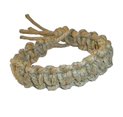 Amazon Com Men S Thick All Natural Big Daddy Hemp Bracelet